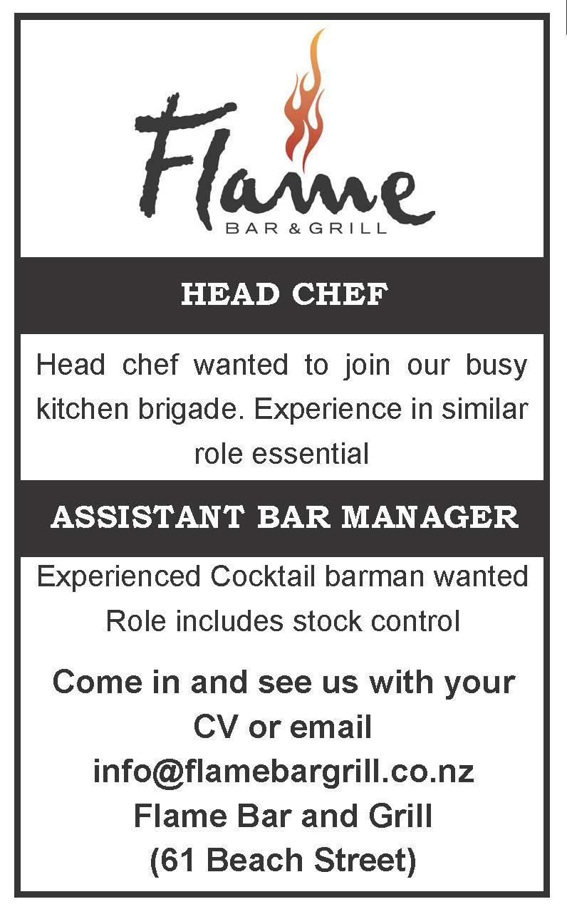 Head Chef; Assistant Bar Manager   JobFix
