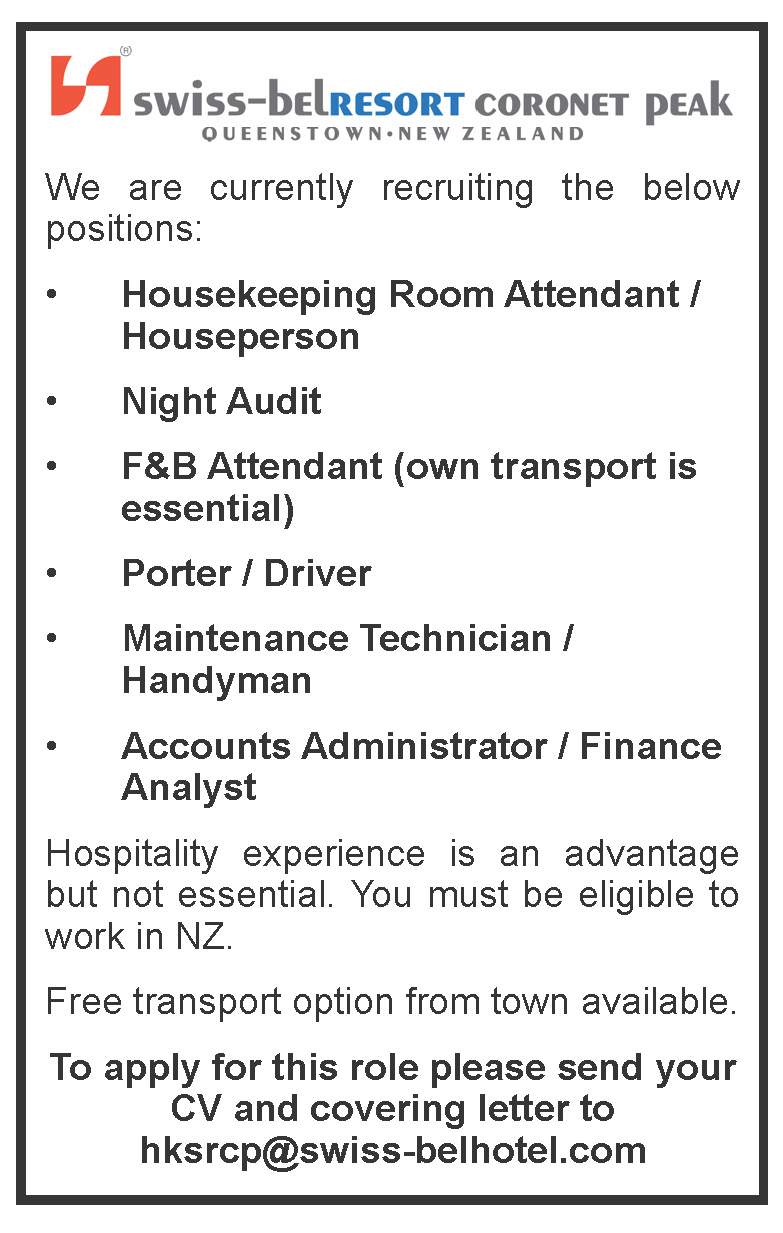 HEAD CHEF   RECEPTIONIST   HOUSEKEEPING   ACCOUNTANT   ACCOUNT ...